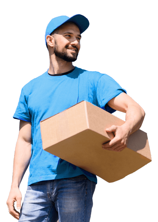 man holding box in hand